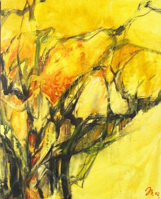 Kelch | Acryl auf Leinwand | 2002 | 50x70cm