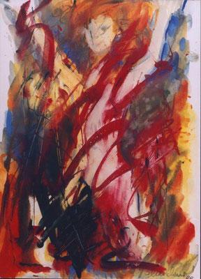 Sich fühlen | Gouache auf Papier | 1999 | 35x50cm