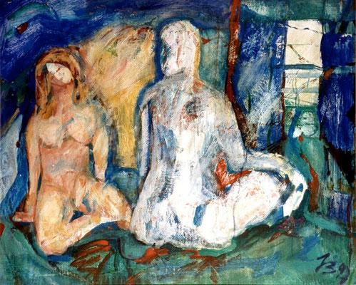 Zweisamkeit | Acryl auf Karton, 1997 | 70x80cm