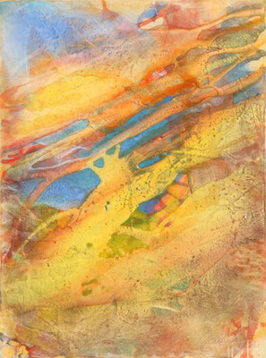 4414 O.T., Erdfarben auf Leinwand, 2011 60 x 80 cm