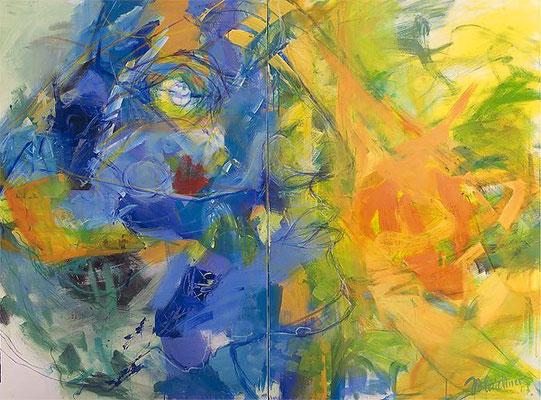 Profil | Acryl/Kreide auf Leinwand | 2007 | je 100x150cm