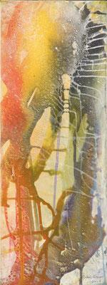 13 O.T. Erdfarben auf Leinwand, 2008 30 x 80 cm
