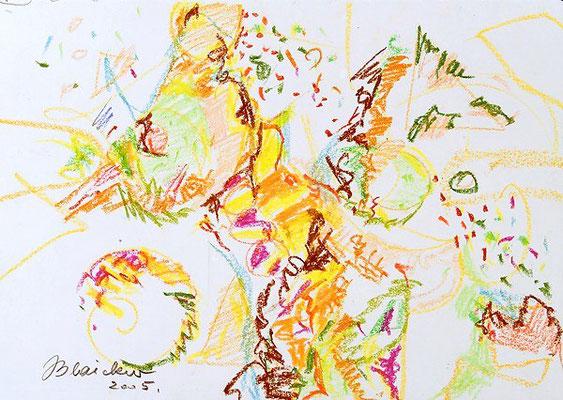 Farbenwelt 5 | Ölkreide/Papier | 2005 | 42x30cm