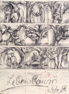 Skizze | Kreide auf Papier | 2002 | 40x60cm