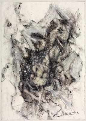 Unterirdisch | Pastellkreide/Papier | 2004 | 30x42cm