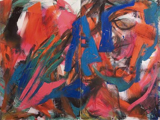 Grüne Hand | Acryl auf Leinwand | 2007 | je 80x120cm