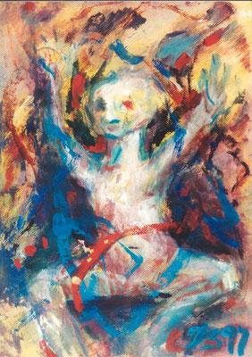 Gnom | Acryl auf Papier | 1999 | 40x50cm