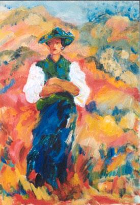 Julia | Öl auf Karton |1998 | 50x70cm