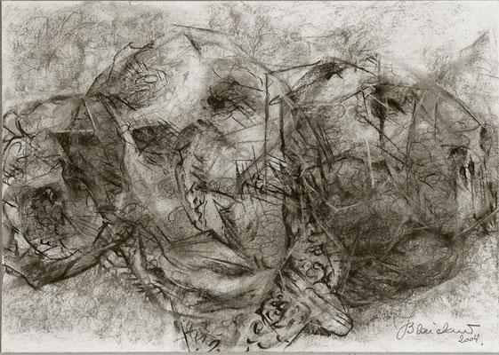 Knolle | Pastellkreide/Papier | 2004 | 30x42cm