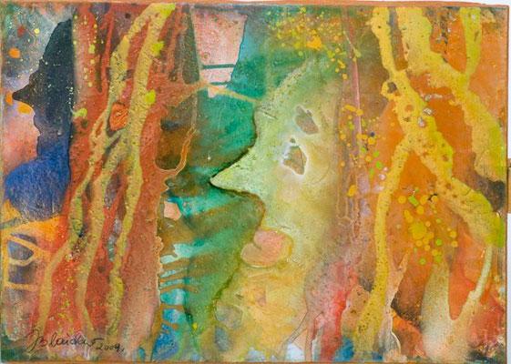 0I O.T. Erdfarben auf Leinwand, 2009 70 x 50 cm