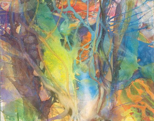 20 O.T. Erdfarben auf Leinwand, 2008 100 x 80 cm