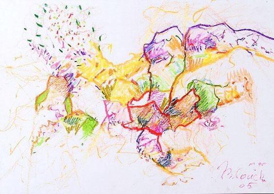 Farbenwelt 4 | Ölkreide/Papier | 2005 | 42x30cm