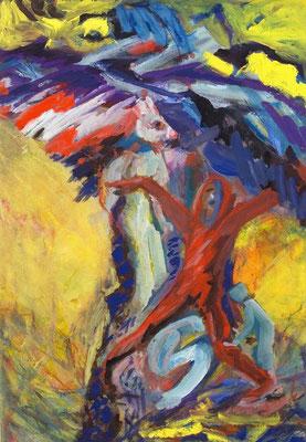 Unterdach | Gouache auf Papier | 2001 | 50x70cm