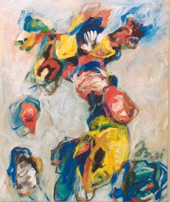 Fliegende Form | Acryl auf Leinwand | 2001 | 50x60cm