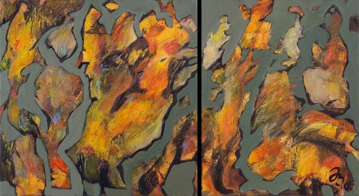 Herbst | Acryl auf Leinwand | 2005 | 50 x 50 cm 40x50cm
