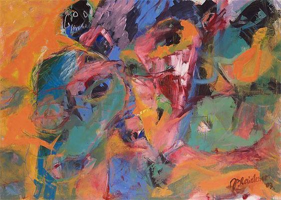 Rätzel | Acryl auf Leinwand | 2007 | 150x120cm