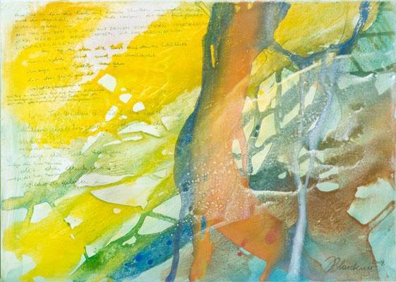 0J Tanz der Erde, Erdfarben auf Leinwand, 2009 70 x 50 cm