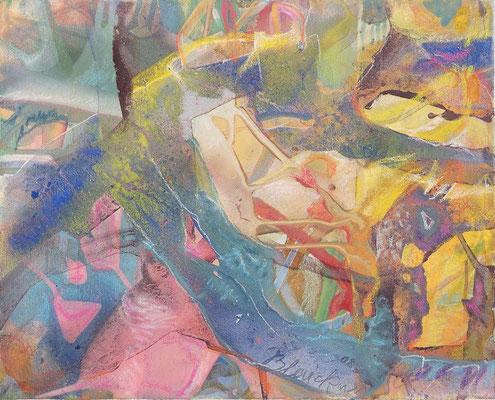 10 O.T. Erdfarben auf Leinwand, 2008 50 x 40 cm