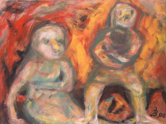 Der Aufbruch | Acryl auf Leinwand | 2006 | 80x60cm