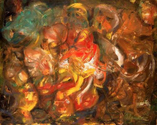 Die Reiter | Öl auf Leinwand | 2006 | 100x80cm