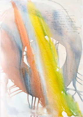 0U Au der Freude, Erdfarben auf Leinwand, 2009 70 x 100 cm