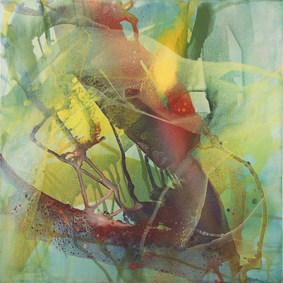 03 O.T. Erdfarben auf Leinwand, 2008 80 x 80 cm