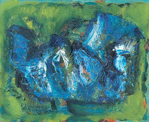 Blaue Blume | Öl auf Leinwand | 2006 | 18x24cm