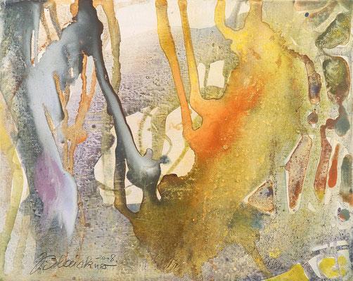 11 O.T. Erdfarben auf Leinwand, 2008 50 x 40 cm
