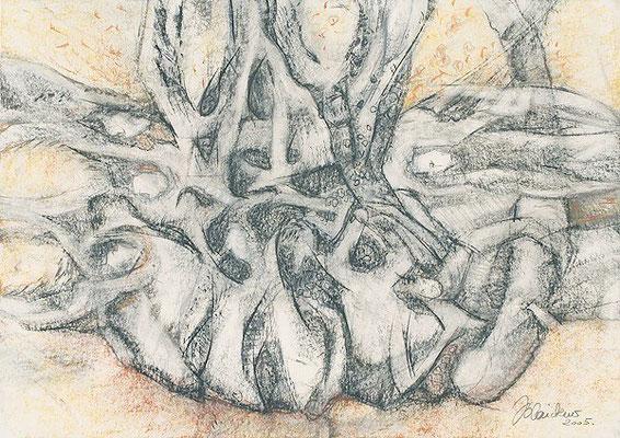 Verbindung | Pastellkreide/Papier | 2005 | 42x60cm