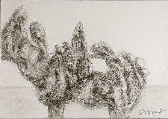 Gruppe 7 | Pastellkreide/Papier | 2004 | 60x42cm