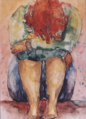 Rückzug | Aquarell auf Papier | 1997 | 50x70cm