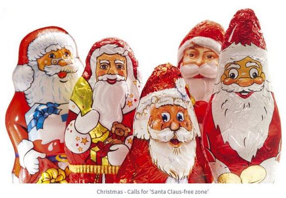 Der Nikolaus unter Weihnachtsmännern...
