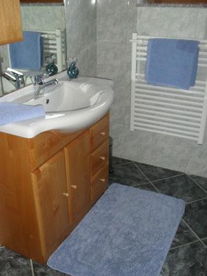 Badezimmer im Ferienhaus Zur Hofschmiede