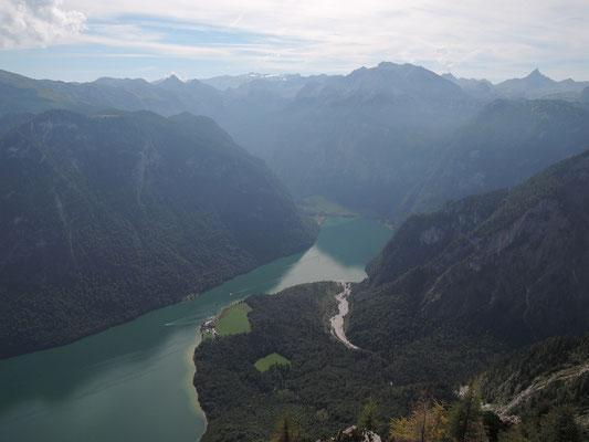 Blick vom Mooslahnerkopf auf Königssee 1.815m (10.09.2016)