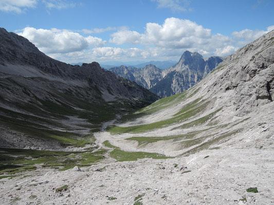 Sittersbachscharte mit Blick auf Reiter Alpe 2.120m (07.08.2016)