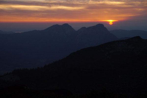 Sonnenuntergang Stöhrhaus 1.894m, 07.06.2014