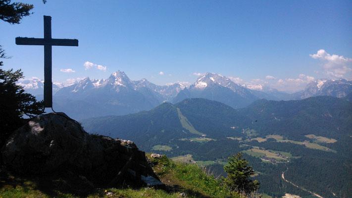 Blick vom Untersberg Richtung Watzmann (05.06.2015)
