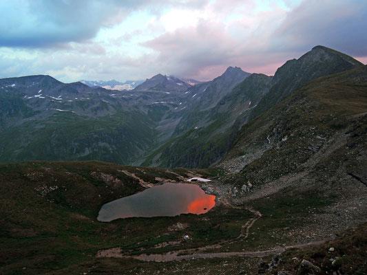Sonnenuntergang an der Hagener Hütte 2.440m (21.07.2015)