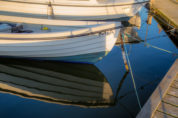 Kleiner aber feiner Seitenarm vom Hafen in Dragør