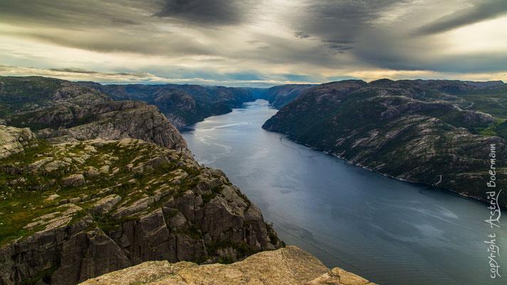 ein beeindruckender Blick auf den Lysefjord