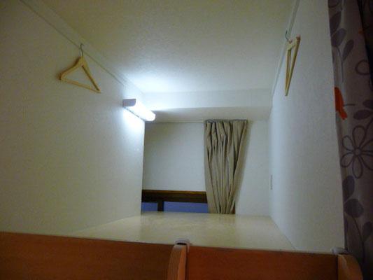 ドミトリー1-A号室、上の階ですシングルサイズの布団が置けます