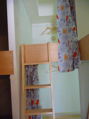 ドミトリー1-B号室です、2段ベットで上下使えます