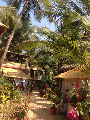 Wonderful beach huts at Agonda Beach