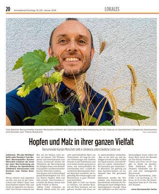 """""""Interessantes und Kurioses zum Thema Braukunst"""" Märker über Karsten Morschett - Bierverkostung - biersommelier.berlin"""