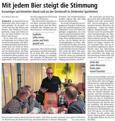 """""""Kurzweiliger und lehrreicher Abend"""" - Bierseminar mit Biersommelier Karsten Morschett - biersommelier.berlin"""
