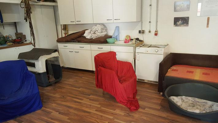 ...das Wohnzimmer für unsere Gäste untergebracht