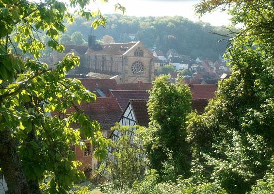 Abteikirche aus Westen
