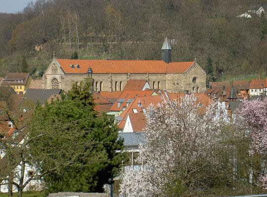 Abteikirche aus Südwesten