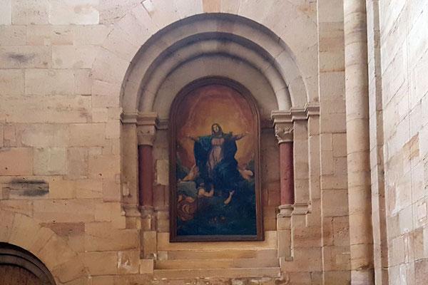 Heute hängt das Bild des früheren Hochaltars im Dormitorenportal, Bild H. Forsch