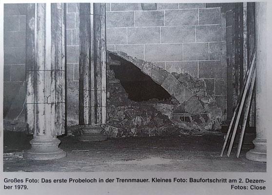 Erste Öffnung der Trennmauer